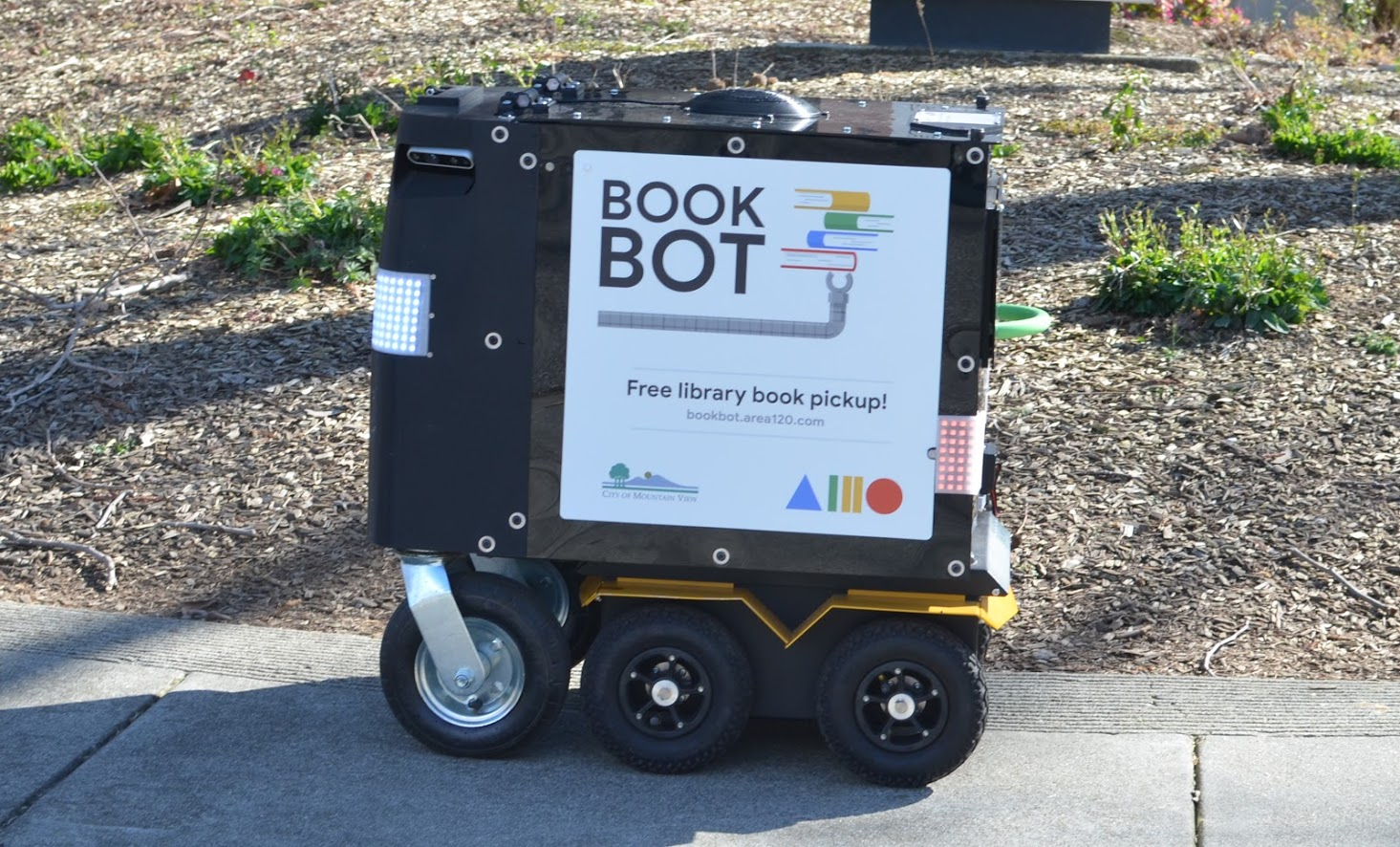 Book Bot on the streets of Mountain View