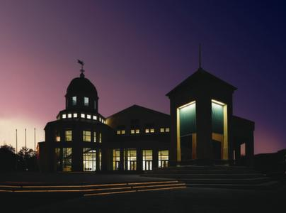 the Center at night